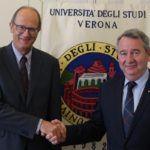 Il rettore dell'Australian Catholic University in visita in ateneo