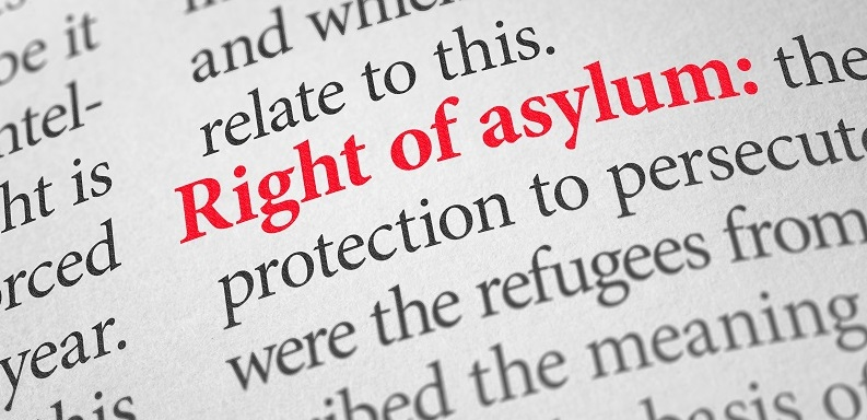 Definition of the term right of asylum in a dictionary